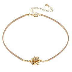 LC Lauren Conrad Flower Choker Necklace