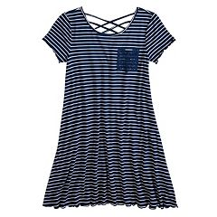 Girls 7-16 SO® Strappy Crisscross T-Shirt Dress