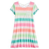 Girls 7-16 & Plus Size SO® Strappy Crisscross T-Shirt Dress