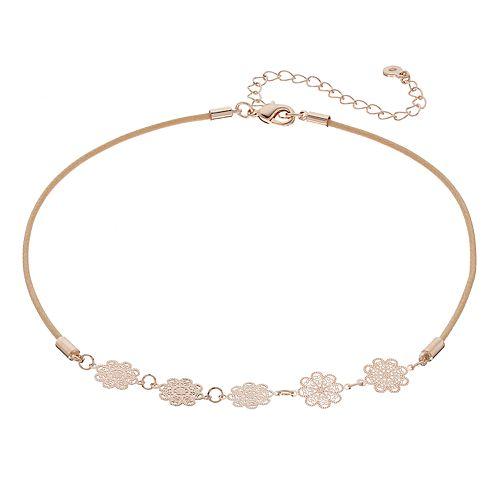 LC Lauren Conrad Filigree Choker Necklace