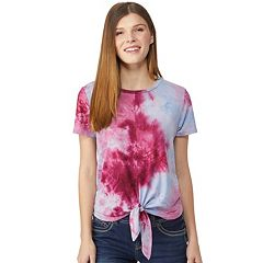 Juniors' Wallflower Twist-Front Tee