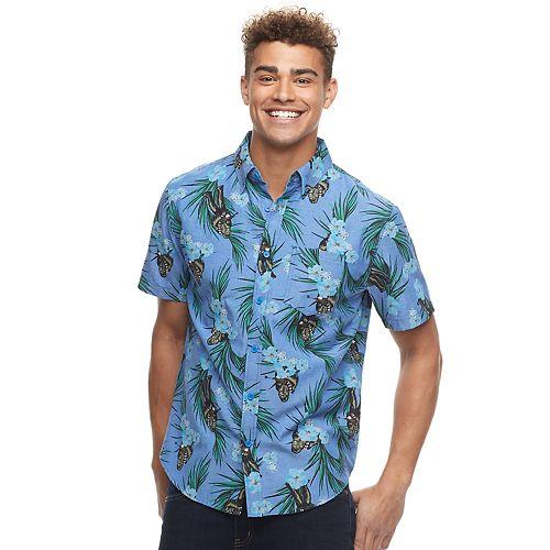 bdd6f28f Men's Star Wars Chewy Tropical Button-Down Shirt