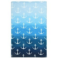 Destinations Ombre Anchor Hand Towel