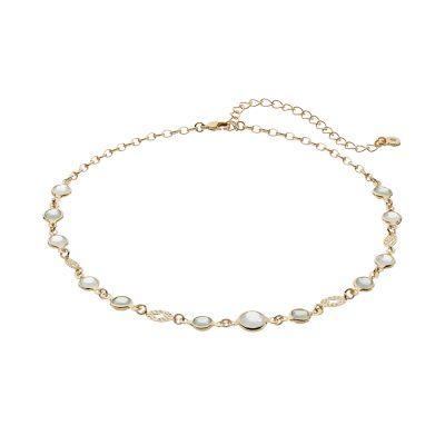 LC Lauren Conrad Filigree Bead Choker Necklace