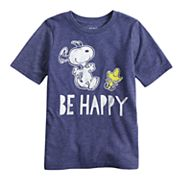 Boys 4-10 Jumping Beans® Peanuts Snoopy & Woodstock 'Be Happy' Graphic Tee