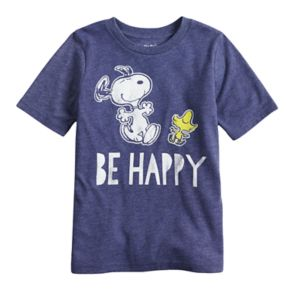 "Boys 4-10 Jumping Beans® Peanuts Snoopy & Woodstock ""Be Happy"" Graphic Tee"
