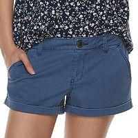 Juniors' SO® Low-Rise Chino Shorts