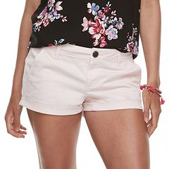 Juniors' SO® Low-Rise Chino Shorts