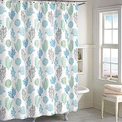 Destinations Coral Botanical Shower Curtain