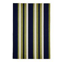 Liora Manne Portsmouth Nautical Stripe Indoor Outdoor Rug