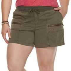 Plus Size SONOMA Goods for Life™ Zipper Utility Shorts