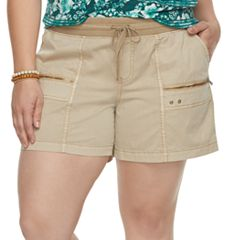 Plus Size SONOMA Goods for Life™ Zipper Utility Shorts