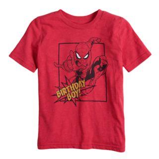 "Boys 4-10 Jumping Beans® Marvel Spider-Man ""Birthday Boy"" Graphic Tee"