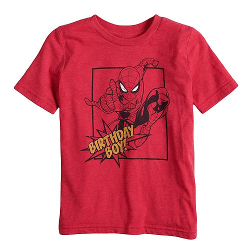 "Boys 4-10 Jumping Beans® Marvel Spider-Man ""Birthday Boy"" Graphic Tee"