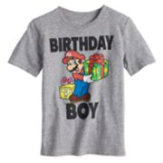 "Boys 4-10 Jumping Beans® Nintendo Mario Bros. ""Birthday Boy"" Graphic Tee"