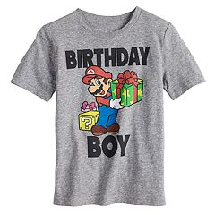 Boys 4-10 Jumping Beans® Nintendo Mario Bros. 'Birthday Boy' Graphic Tee