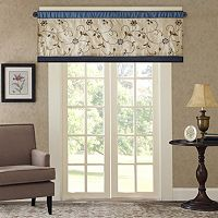 Madison Park Belle Embroidered Window Valance