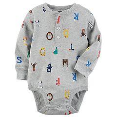 Baby Boy Carter's Printed Henley Bodysuit