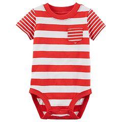 Baby Boy Carter's Striped Pocket Bodysuit