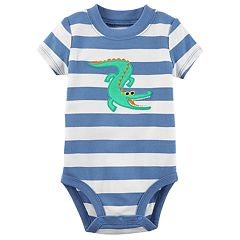Baby Boy Carter's Striped Applique Bodysuit