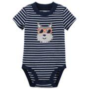Baby Boy Carter's Striped Applique Bodysuit