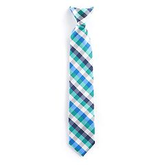 Boys 4-20 Chaps Babbit Check Clip-On Tie