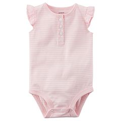 Baby Girl Carter's Flutter Sleeve Striped Bodysuit