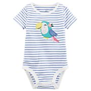 Baby Girl Carter's Striped Applique Bodysuit