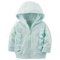 Baby Boy Carter's Ruffled Zip Cardigan