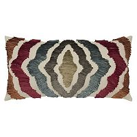 Rizzy Home Radiating Lines Oblong Throw Pillow