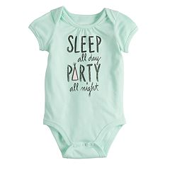 Baby Girl Jumping Beans® Short Sleeve Graphic Bodysuit