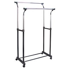 Richards Flared Double Rolling Garment Rack