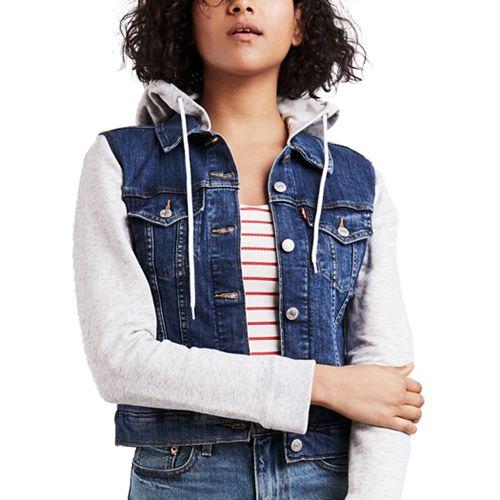 Women's Levi's Hooded Mixed-Media Trucker Jacket