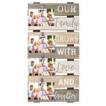 "New View ""Our Family Grows"" 4-Opening Photo Clip Collage Frame"