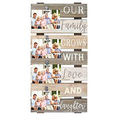 New View 'Our Family Grows' 4-Opening Photo Clip Collage Frame