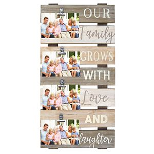 """New View """"Our Family Grows"""" 4-Opening Photo Clip Collage Frame"""