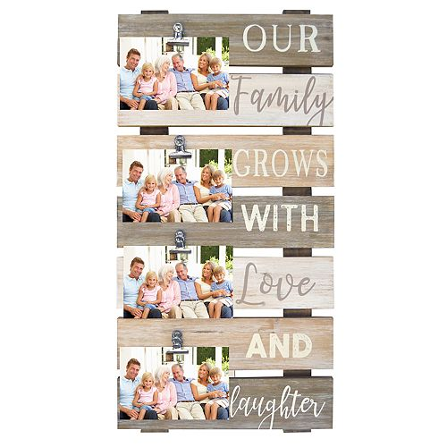 New View Our Family Grows 4 Opening Photo Clip Collage Frame