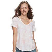 Juniors' SO® Cut-Out Clavicle Tee