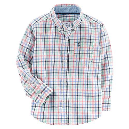 Toddler Boy Carter's Plaid Button-Down Shirt