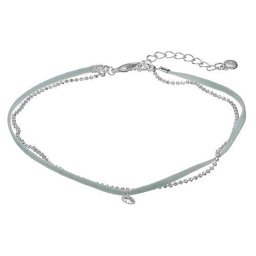 LC Lauren Conrad Mint Cord & Bead Multi Strand Anklet