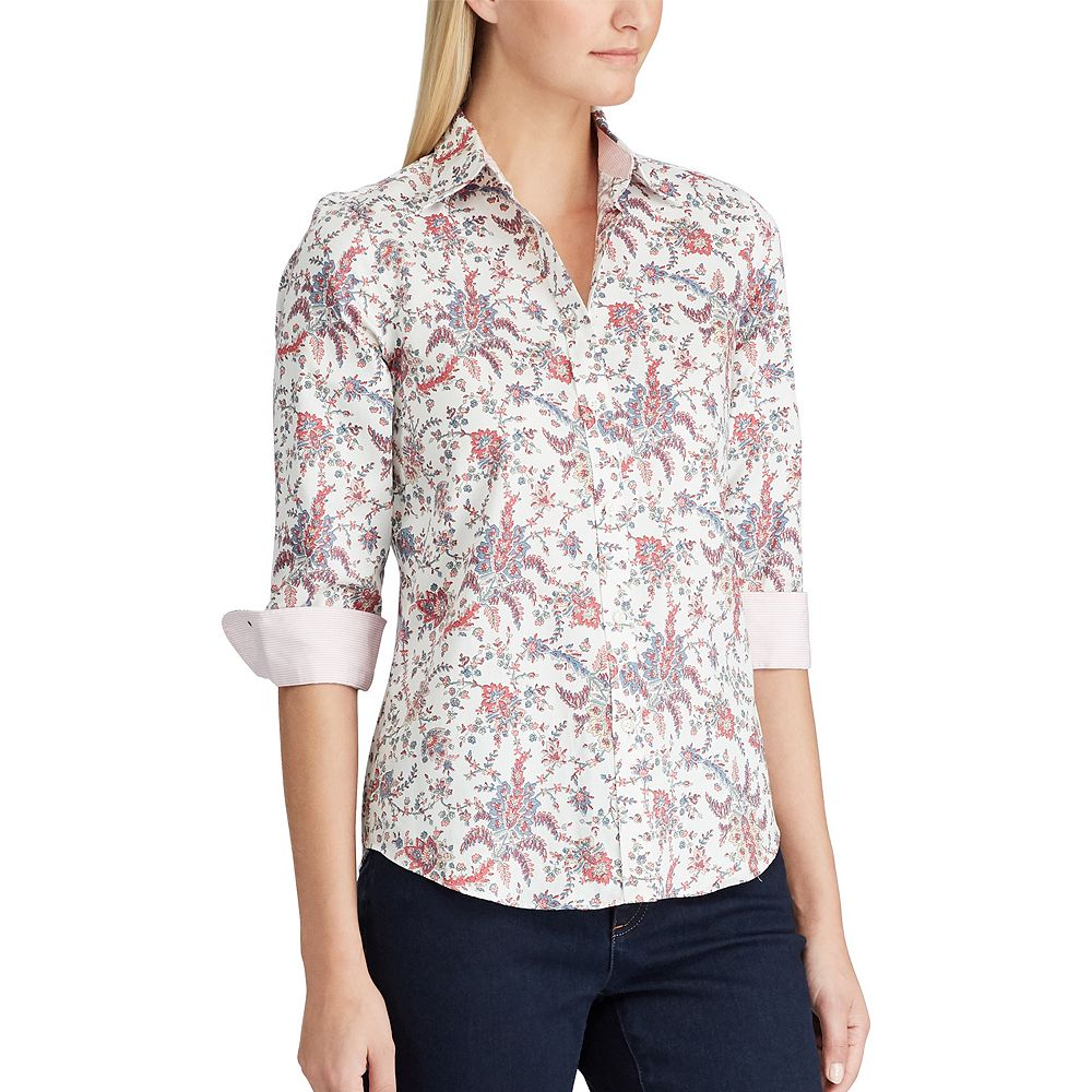 Women's Chaps 3/4 Sleeve Non Iron Shirt