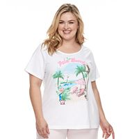 Plus Size Croft & Barrow® Scoopneck Tee