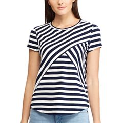 Women's Chaps Striped Crewneck Tee