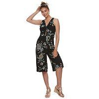 Juniors' Candie's® Floral Tie-Front Jumpsuit