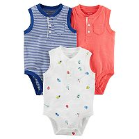 Baby Boy Carter's 3-pack Henley Bodysuits