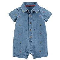 Baby Boy Carter's Bug Chambray Romper