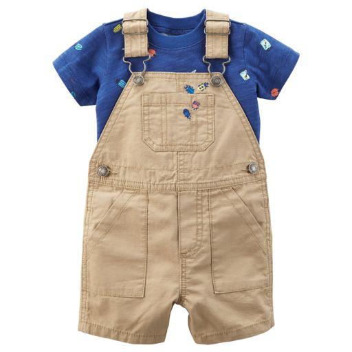 Baby Boy Carter's Bug Tee & Ripstop Overalls Set