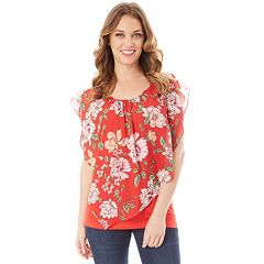 Women's Apt. 9® Printed Popover Top