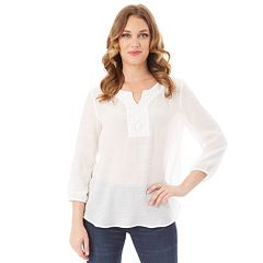 Women's Apt. 9® Embroidered Peasant Top