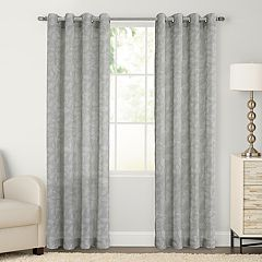 SONOMA Goods for Life™ 1-Panel Ayden Sayer Leaf Linen Blend Window Curtain